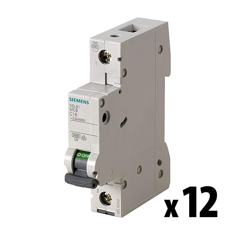 x12 St/ück 5SL61136 SENTRON Leitungsschutzschalter 1-polig 13 A SIEMENS