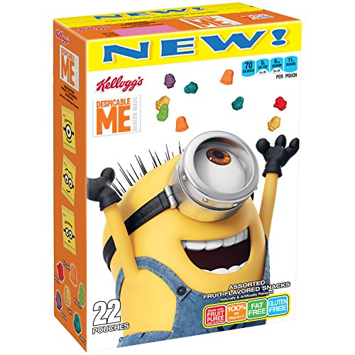 Kellogg's Despicable Me 3 Fruit Flavored Snacks, 22 Count, 17.6 -