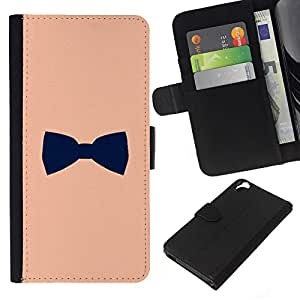 KingStore / Leather Etui en cuir / HTC Desire 820 / Noir Conception Gentleman