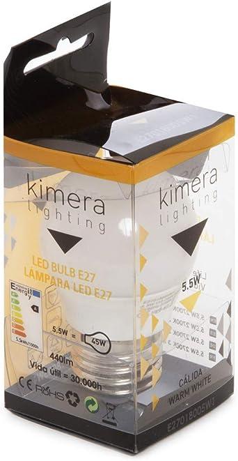 Greenice Ampoule /à Led 5,5W 110-240V E27 Blanc Neutre Kimera