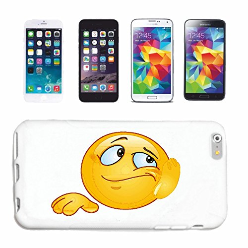 "cas de téléphone iPhone 5 / 5S ""SMILEY BE MERRY SUR EXAMEN ""smile EMOTICON APP de SMILEYS SMILIES ANDROID IPHONE EMOTICONS IOS"" Hard Case Cover Téléphone Covers Smart Cover pour Apple iPhone en blanc"