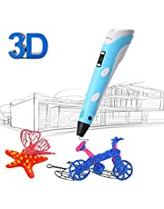 3D Printing Pen for Kids,Juboury JBY-II 3D Drawing Pen with LCD Temperature Display for Model Printing,Art Design,DIY and Crafts Drawing-Compatible with 1.75mm ABS and PLA Filament