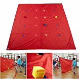 Merav Asher's Dots bull's eye Tarp Parachute + 3 soft cubes, Summer Camp Activities, Physical education equipment, Children cooperative game, Outdoor/Indoor game