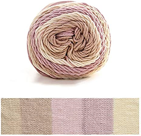 LLAni - Ovillo de lana para tejer de algodón arcoíris, 5 hilos, tejido a mano, para manta: Amazon.es: Hogar