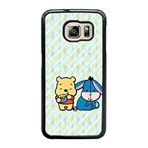 Fashion image DIY for Samsung Galaxy S6 Edge Cell Phone Case Black Pooh and Eeyore Best Gift Choice For Birthday HMB3460957