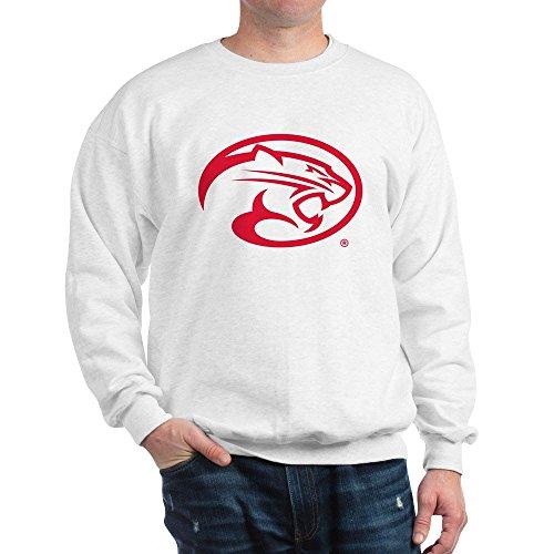 CafePress Houston Cougar Mascot Logo Classic Crew Neck Sweatshirt White (Mascot Houston Pants)