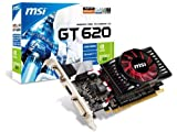 MSI NVIDIA GeForce GT 620 2GB GDDR3 VGA/DVI/HDMI Low Profile PCI-Express Video Card N620GT-MD2GD3/LP