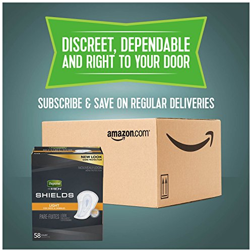 Depend Incontinence Shields for Men, Light Absorbency, (Packaging May Vary) by Depend (Image #3)