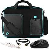 VanGoddy Blue Trim Laptop Bag w/ Accessory Bundle for Acer Aspire / V Nitro / Predator / TravelMate / 17.3inch