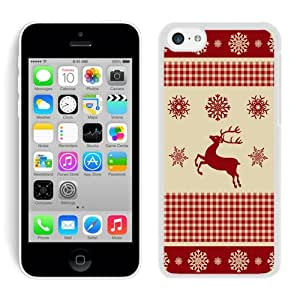 Recommend Design Iphone 5C TPU Case Winter Pattern With Deer White iPhone 5C Case 1