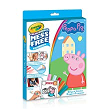 Crayola Peppa Pig Color Wonder Colouring Pad & Markers, Mess Free, Ages 3,4,5