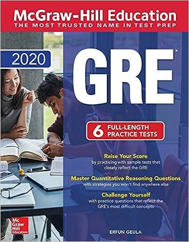 Best Education Books 2020 McGraw Hill Education GRE 2020: Erfun Geula: 9781260453881: Amazon