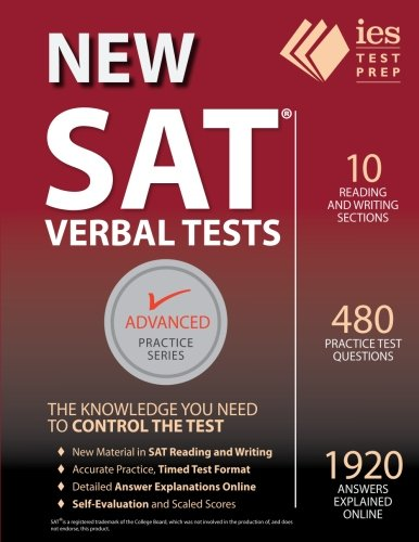 SAT Verbal Tests Practice Book product image
