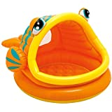 Intex Lazy Fish rTvDRa Inflatable Baby Pool, 49 in X 43 in X 28 in, for Ages 1 to 3, 2 Units