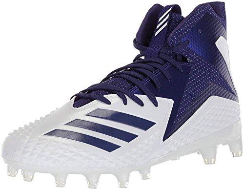 adidas Men's Freak X Carbon Mid Football Shoe, White Collegi