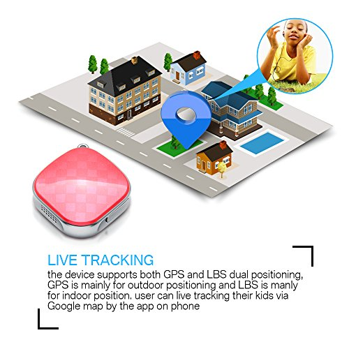authentic gps tracker jvsurf mini gps locator kids personal gps with geo fence portable real. Black Bedroom Furniture Sets. Home Design Ideas