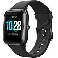 Smart Watch with Color LCD Touch Screen, Fitness Tracker with Heart Rate Monitor, Pedometer, Sleep Tracker, Waterproof…