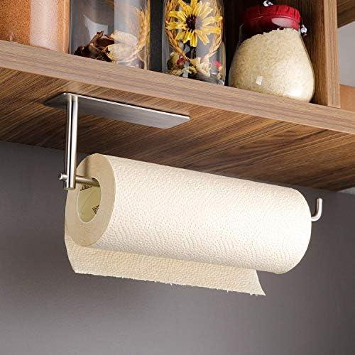 Kitchen Under Cabinet Towel Hanger Rack Multifunctional Storage White Shelf U9G2