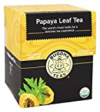 Organic Papaya Leaf Tea - Kosher, Caffeine-Free, GMO-Free - 18 Bleach-Free Tea Bags