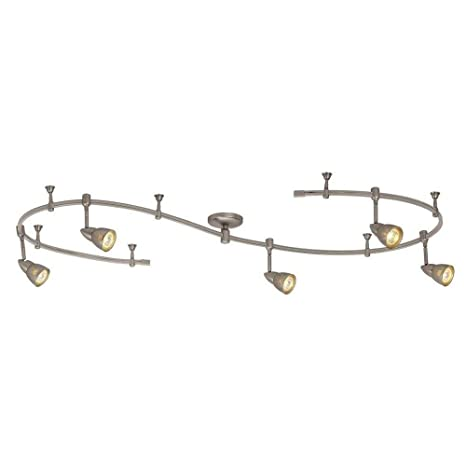 10 ft stainless steel line voltage flexible track lighting fixture