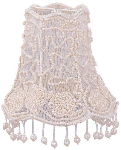 Crystorama 2SH, Pearl Beaded Lace Shade (Crystorama Lamp Shades)