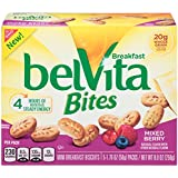 belVita Bites Breakfast Biscuits, Mixed Berry, 5 Count Box, 8.8 Ounce (Pack of 6)