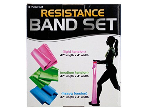 bulk buys Resistance Band Set with 3 Tension Levels - Pack o