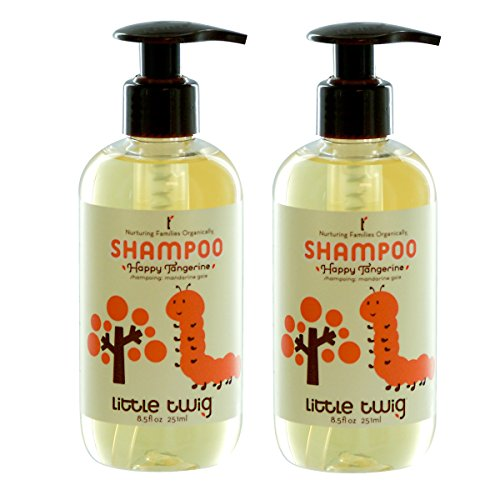 Little Twig Happy Tangerine Shampoo with Blends of Lemon, Tangerine and Rosemary, 8.5 fl. oz. (Pack of 2)