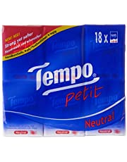 Tempo Petit Pocket Hanky (Neutral), 18 per pack, 7 count (Pack of 18)