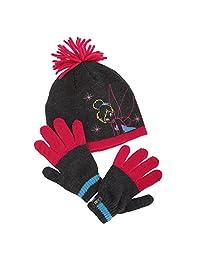 Disney Childrens Girls Tinker Bell Winter Hat & Gloves Set (4-8 Years) (Grey/Fuchsia)