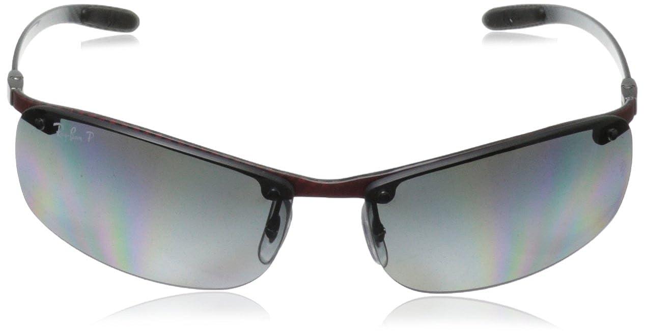db96216c74 Ray-Ban 8305 142/T3 Gafas de sol, Polarizadas, 64, Negro (Nero): Amazon.es:  Ropa y accesorios