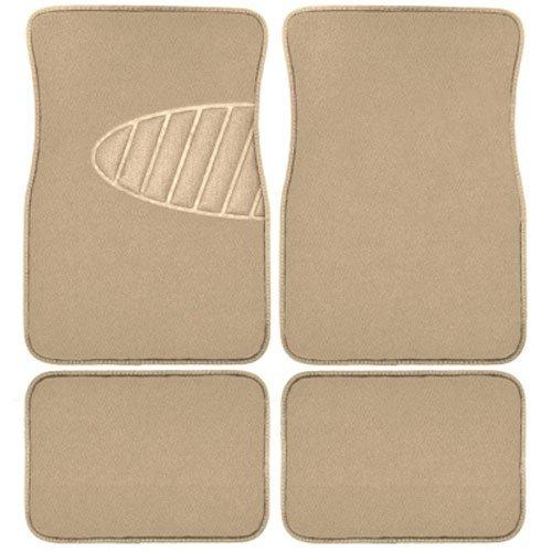 Armor All 78916 4-Piece Tan Heavy Duty Carpet Floor Mat with