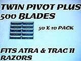 Personna Twin Pivot Plus - 500 Blades (50 x 10 Bulk Pack)