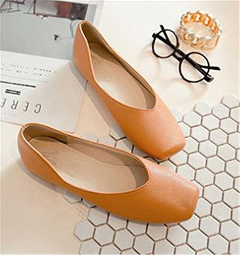 Fashion Ballet Slip Women's Dress On Shoes Brown Flats aIw1xxqz