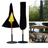 Comprehensive Sunshade Underwrite - Outdoor Yard Garden Umbrella Parasol Cover Zipper Waterproof - Spread Wrap Covering Screening Cut Book Binding Masking Concealment Natural - 1PCs