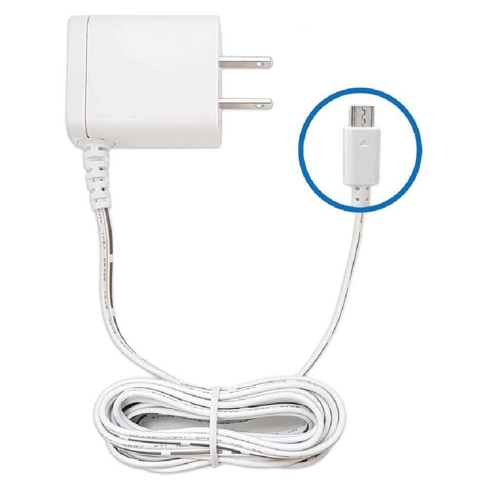 for Motorola Babysense Vtech Baby Monitor 9.7 Feet Micro-USB Charger Power Cord Replacement Adapter Supply Compatible with Parent Unit MBP33S MBP36S MBP36XL MBP38S MBP41S MBP43S MBP843 MBP853 MBP854