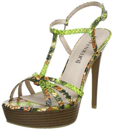 CAFèNOIR EK002 - Sandalias para mujer Verde (Grün (244 VERDE 244 VERDE))