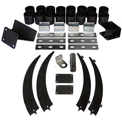 Performance Accessories, Dodge Ram 2500/3500 Gas 4WD (Including 2WD Radius-Arm Suspensions) 3″ Body Lift Kit, fits 2013 to 2015, PA60243, Made in America
