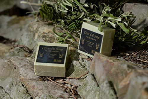 Handmade Olive Oil Soap - 100% Pure Natural, Vegan - 5.6 oz Each Bar ()