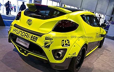 De fibra de carbono para Hyundai Veloster Turbo/non-turbo todos modelo EGR estilo más amplio derecho y izquierdo frontal y trasero Fender Flare arcos ...