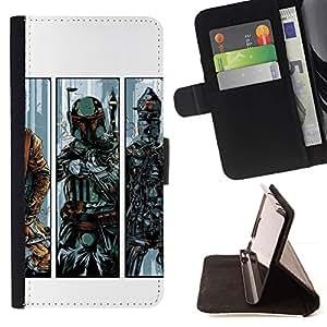 Momo Phone Case / Flip Funda de Cuero Case Cover - B0Bba Fett - Bounty Hunter - LG G3