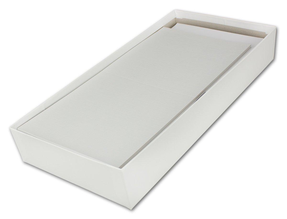 100x Creme-wei/ßes Quadratisches Leinen Struktur Falt-Karten-Set mit Brief-Umschl/ägen /& Einlege-Bl/ätter I 14,5 x 14,5 cm I Papier-Bastel-Set I Gustav NEUSER/®