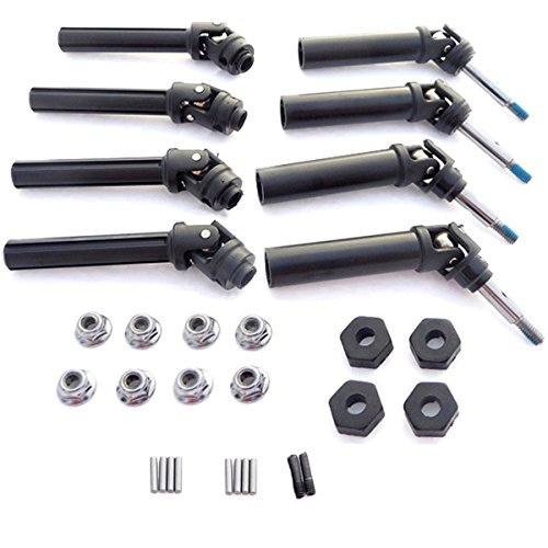 Traxxas 1/10 Stampede 4x4 VXL FRONT/REAR DRIVE SHAFTS, WHEEL HEXES, & NUTS by Traxxas