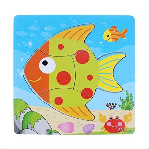 Bestpriceam (Tm) Wooden Blocks Kid Children Educational Toy Puzzle Goldfish