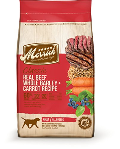 Merrick Classic Adult Real Beef, Whole Barley and Carrots Dry Dog Food, 30-Pound