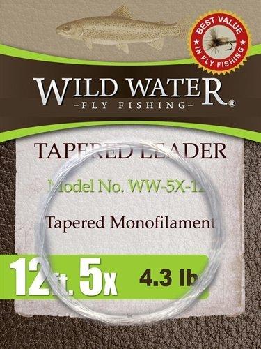 最上の品質な Wild Fly Water Fly Fishing Tapered Tapered leader-5 X、12 ' Wild、6パック B00EFGVRZC, 米沢市:6f68d19c --- 4x4.lt