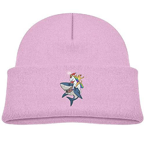 Beanies Caps Knitted Hats Cat Ride Unicorn Shark Wool Baby Winter ()