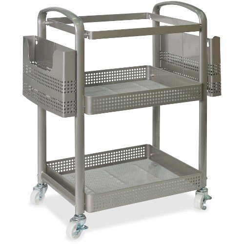 Lorell Mobile File Cart - 12.5'' Length x 22.4'' Width x 25.3'' Height - Metal Frame - Champagne by Lorell