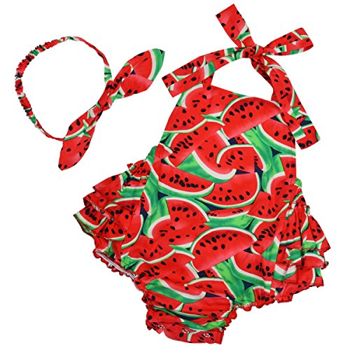 PrinceSasa Baby Girl Gifts Watermelon Romper Newborn Size Clothes,red4,0-6 Months(Size S)