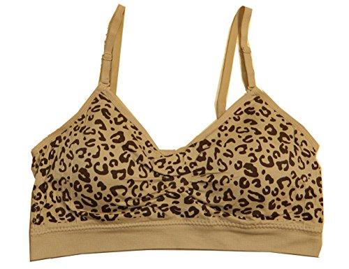 Coobie Seamless Scoopneck Bra,Brn/Nude Leopard,One ()